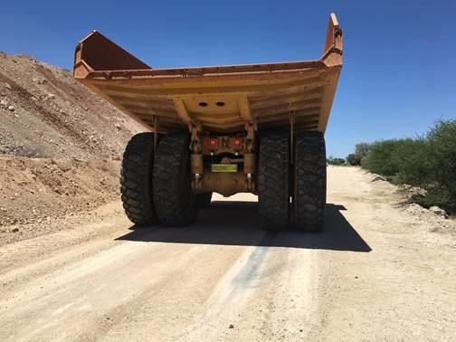 Brake test on dry untreated road