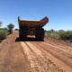 Brake test on wet Roadtech treated road