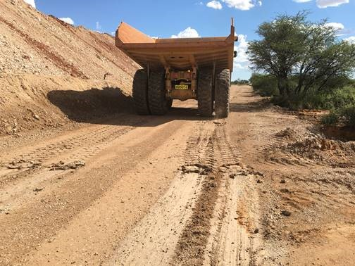 Brake test on wet untreated road
